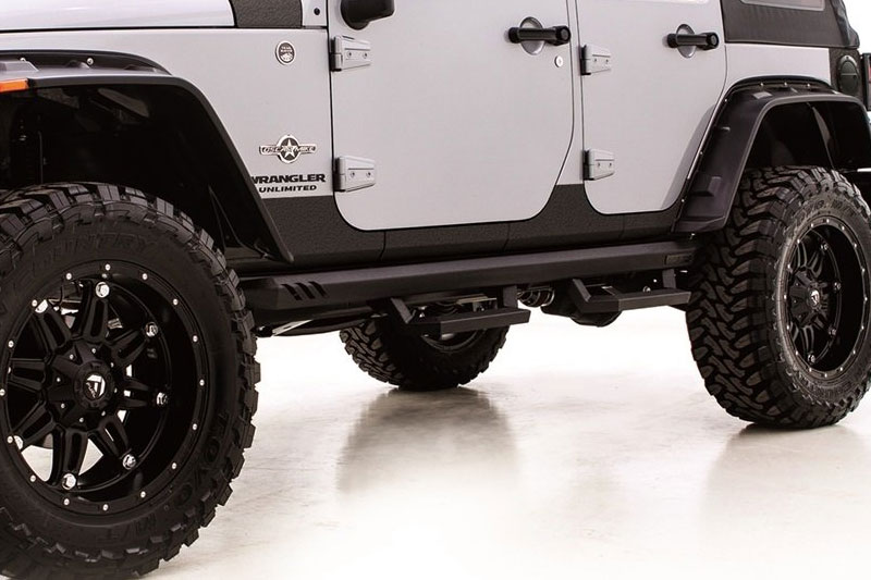 Rampage rhino lining rocker guards for Rhino liner jeep exterior cost