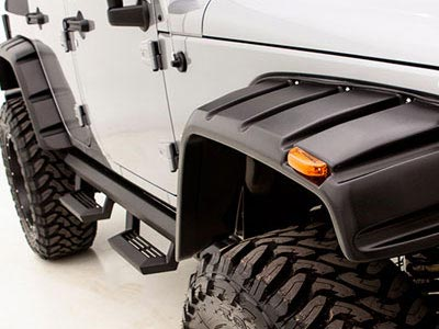 Rampage Smooth Rivet Style Fender Flares 2007 2016 Jeep